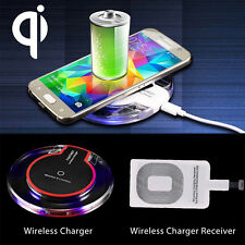 Qi Wireless Fast Charger Charging Pad Receiver F Samsung S8 iPhone 7 6 6s P