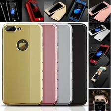 Unique Jet Black Luxury Mirror Full Body Tempered Glass For iPhone 6 6S 7 P