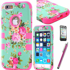 Shockproof Slim Rugged Hybrid Rubber Hard Cover Case for Apple iPhone 6S 6