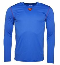 Official Men's Blue DC Comics Superman Long Sleeve Performance T-Shirt