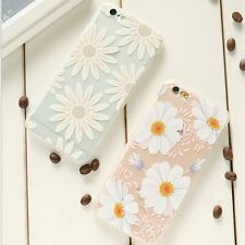 Girly Slim Soft TPU Flower Silicone Shockproof Cover Case For iPhone 6 6S 4