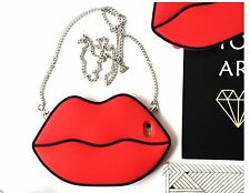 Red 3D Sexy Lips Fashionable Sexy Flexible 3D Red Lips Silicone Case