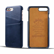 Ultra-thin PU Leather Card Holder Hard Back Cover Case For iPhone 6 6S 7 Pl