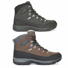 Trespass Thorburn Mens Hiking Boots Lace Up Waterproof Leather Shoes