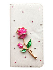 3D Bling Diamond Rhineston Flip Wallet Leather Case for Apple iPhone (PkRs)