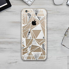 Geometry Illusion Marble Design TPU Silicone Cover Case Apple iPhone 5 6 7