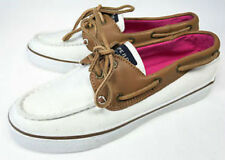 Sperry Top Sider Womens Bahama Loafers in Ivory and Brown Choose Your Size New