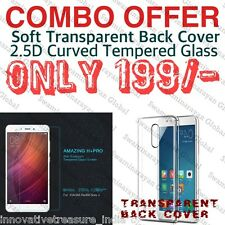 Combo Deal REDMI NOTE 4 Tempered Glass / Transparent Back Cover*