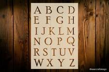 Alphabet Lettering Stencils, Uppercase, Lowercase or Numbers, Various Sizes