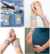 TRAVEL ANTI NAUSEA MORNING SICKNESS MOTION SICK WRIST BAND BRACELET PLANE CAR