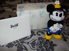 NEW STEIFF MINNIE MOUSE WITH BOX & CERTIFICATE WHITE TAG LIMITED EDITION 354946