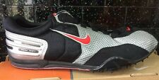 Nike Zoom Shift Running Shoes Spikes Black Red Silver Middle Long Distance 9.5