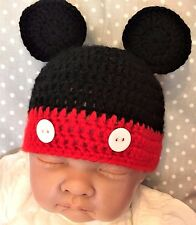 ***Made To Order Baby Boy Mickey Mouse Crochet Hat Disney***