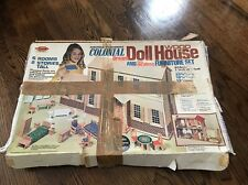 Vintage Arrow Deluxe Colonial Wood Dream Doll House & Furniture Set Kit # 6930