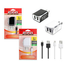 Heavy Duty 2.1A Wall Charger USB-C/ TYPE-C USB Data Cable For Samsung Galax