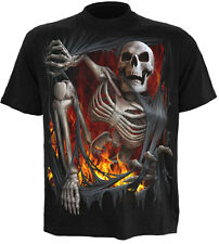 SPIRAL DIRECT DEATH RE-RIPPED, T-shirt nera | Scheletro|Undead|STRAPPA|teschi