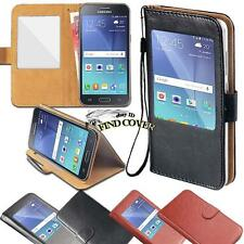 For Samsung Galaxy J 12357 - window view Flip Leather Wallet Stand Cover Case