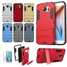 Kickstand Shockproof Hybrid Case Cover For Samsung Galaxy S6 S7 Edge S8 S8+