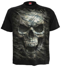 Spiral Camo-Skull, T-Shirt Black|Army|Camouflage|Skulls|Death