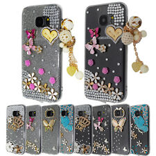 Luxury Bling Crystal Clear Diamond Hard Back Soft Bumper Case Cover For Sam