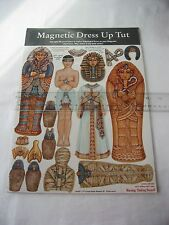 King Tut Magnetic Dress-Up / Egyptian Pharaoh Paper Doll Style Magnets / NEW