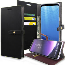 Slim Diary Wallet Book Flip Folio Case Cover for Samsung Galaxy S8 Plus / S