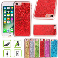 Slim Shockproof Bling Glitter Glossy Bumper Case Cover For iPhone 6 6s 7 Pl