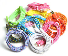 10 FT Braided 8 Pin USB Charger Data Sync Cable Cord for iPhone 5 5S 6 6S 6