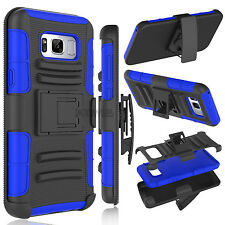 Phone Armor Case With Belt Clip Kickstand Cover For Samsung Galaxy S8 / S8