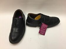 New Men's PSF Executive Black Oxford Safety Shoes Slip Resistant Sole STEEL TOE