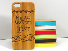 Not All Who Wander Are Lost Case for iPhone 5C Bamboo Wood Cover Nomad Quot