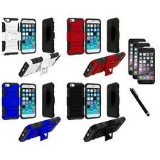 For Apple iPhone 6 (4.7) Heavy Duty Holster Case+3X Screen Protector+Stylus
