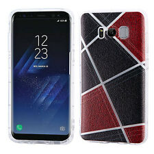 for Samsung Galaxy S8 / S8 PLUS BLACK BROWN soft Skin Cover case + SCREEN F