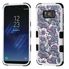 PURPLE WHITE FLOWER TUFF PROTECTOR case Cover for Samsung GALAXY S8 / S8 PL