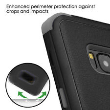BLACK GRAY TUFF PROTECTOR HYBRID SKIN case Cover for Samsung GALAXY S8 / S8