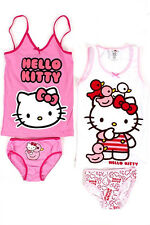 HELLO KITTY BIANCHERIA INTIMA SET DI MUTANDINE+CANOTTIERA TGL 92 98 104 110 116