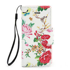 For Apple Iphone SE 5, 5s PU Leather Card Holder Wallet Flip Case Cover Flo