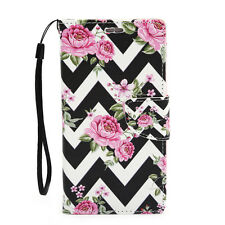 For Samsung Galaxy Note 2 Leather Wallet Flip Case Credit Card Cover Pink R