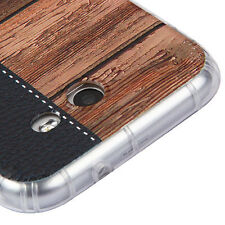 BLACK Wood Grain Candy Skin Cover CASE for Samsung Galaxy J3 Emerge  J3 201
