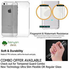Premium Slim Crystal Clear Transparent Dotted Soft Case iPhone 5 / 5S / SE