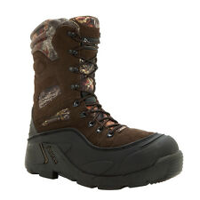 Rocky Mens Brown Leather BlizzardStalker Pro Insulated Snow Boots