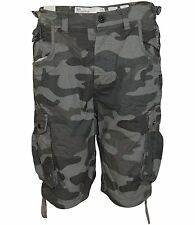 Hommes Crosshatch Camouflage Short Militaire - Crossfin Olive