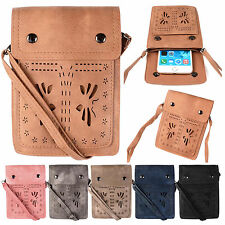 Butterfly Style Hand Purse Strap Wallet Phone Pouch Shoulder Bag PU Leather