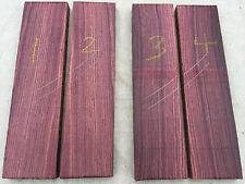 Mexican kingwood (rosewood) guitar bridge / large bookmatched knife scale sets