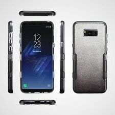 for Samsung GALAXY S8 /S8 PLUS SILVER Glitter Panoview CASE COVER + SCREEN