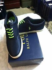 POLO RALPH LAUREN MENS NEW NAVY MESH FASHION SNEAKERS SIZE:9,10,10.5