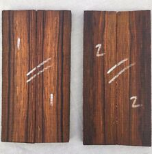 Cocobolo rosewood bookmatched knife scale / knife handle sets 40mm width