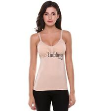 Maternity Nursing Seamless Padded Tank with Hands-Free Pumping Bra LEBB