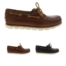 Mens Timberland Tidelands 2 Eye Leather Sahara Smart Loafer Boat Shoes UK 7-13