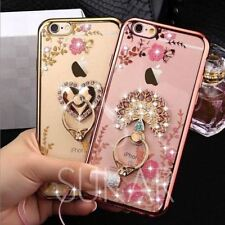 Luxury Hybrid Ring Stand Holder Shockproof Black Case Cover For iPhone 7 Plus